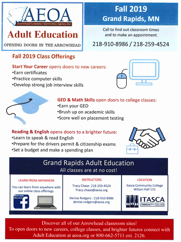 Adult Basic Education Schedule and Contact Information